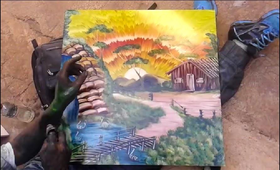 Oldukça Yetenekli Bir Ressamdan Canlı Performans