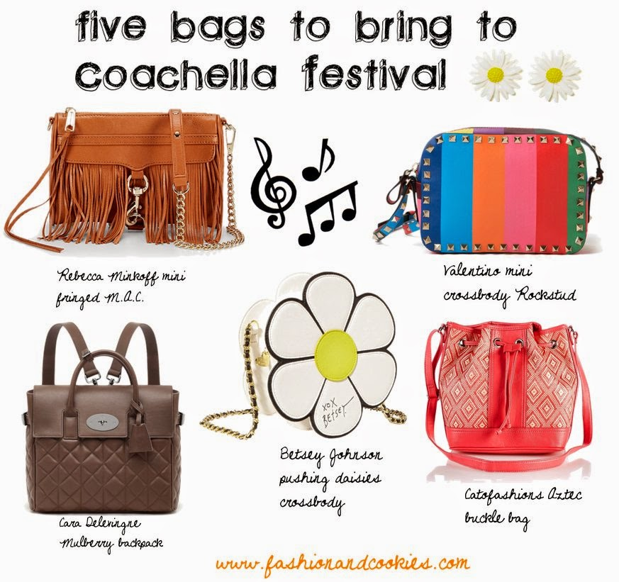 crossbody bags, five music festival bags, Valentino rockstud bag, buckle bag, Fashion and Cookies fashion blogger, fashion blogger tips