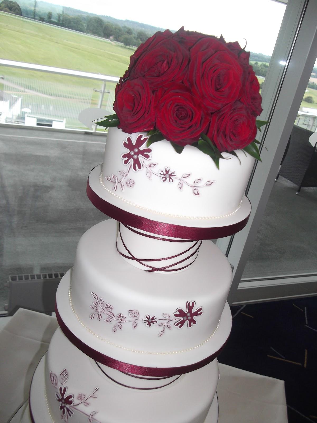 Wedding Cake Art Karen Hill : Cakes By Karen: 4 Tier Wedding Cake
