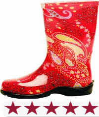 Sloggers Women's Paisley Tallboot, Red