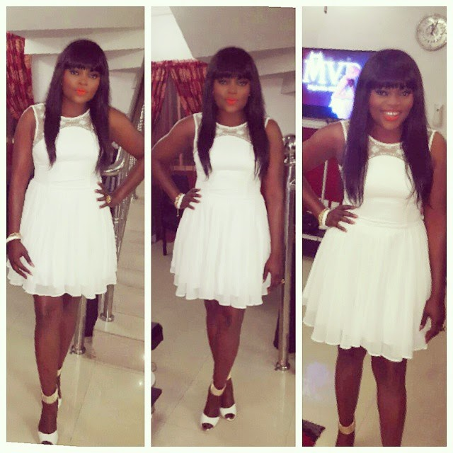 Funke Akindele's Amazing White Dress