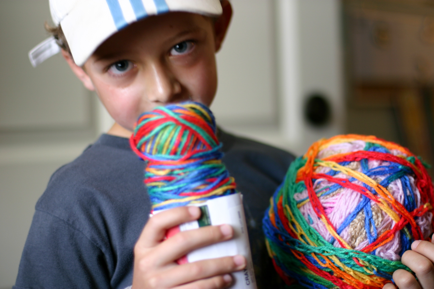 Finger Knitting For Kids Projects : Finger knitting just can t stop flax twine