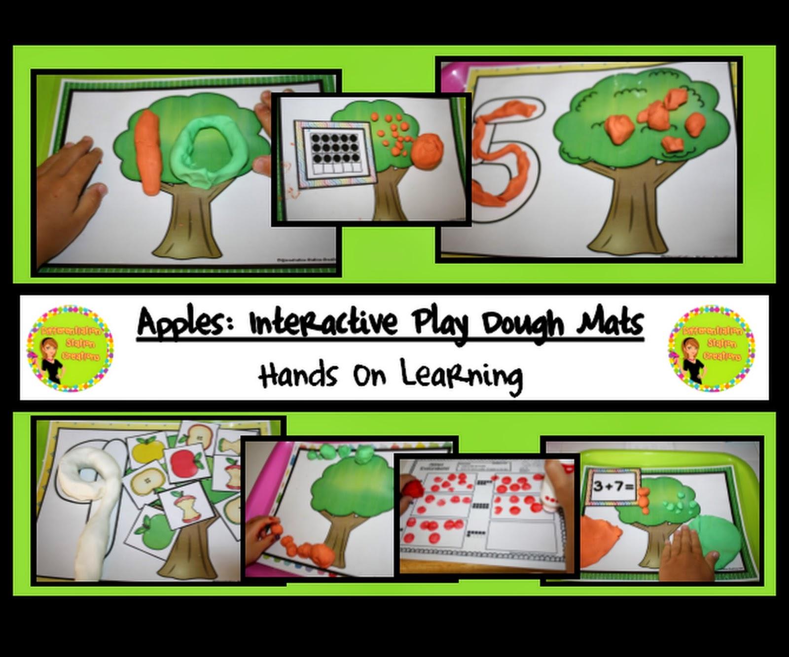 http://www.teacherspayteachers.com/Product/Apples-Interactive-Play-Dough-Mats-Counting-Centers-Printables-1353686