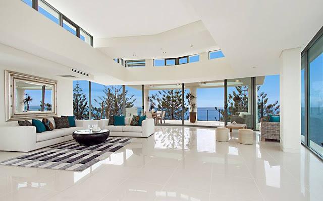 Construindo minha casa clean espelhos como usar na for Significado d living room