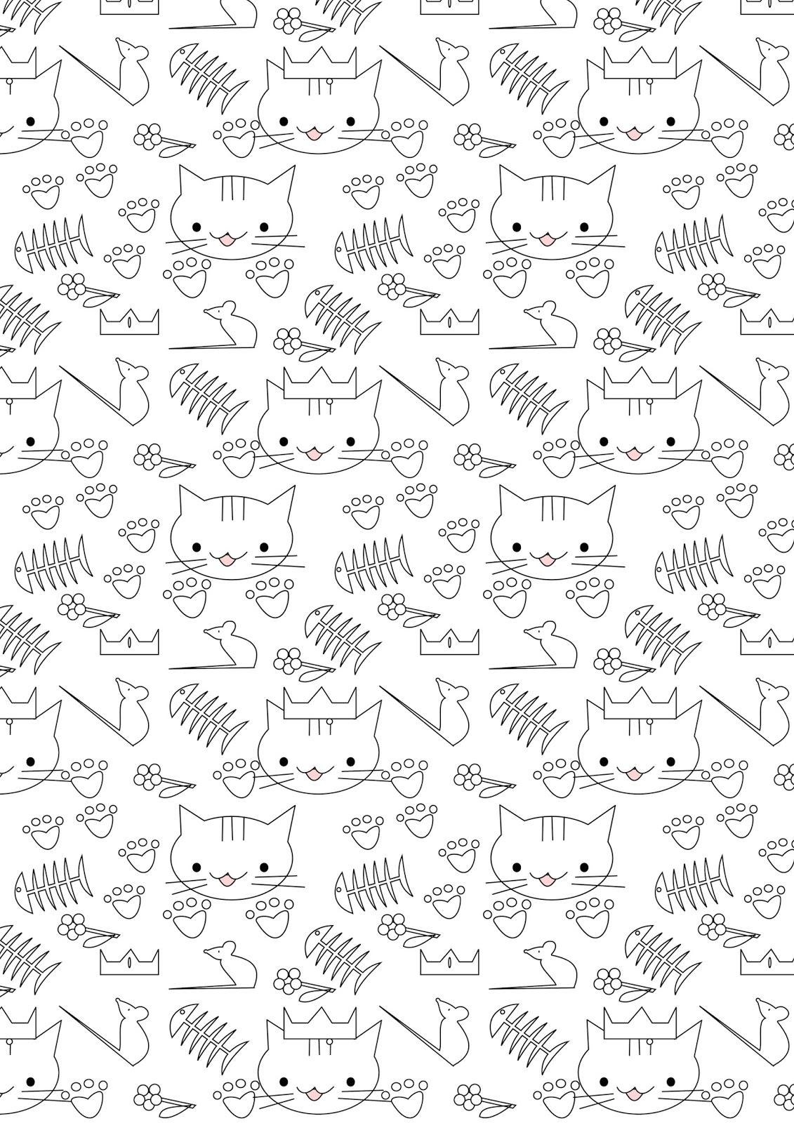 Free printable cat coloring paper
