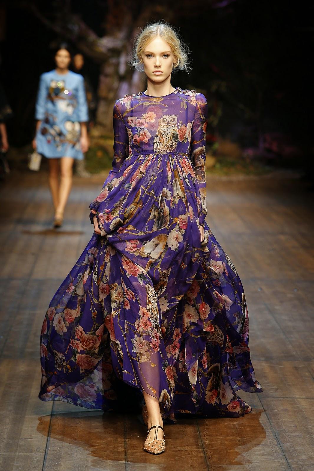 http://www.dolcegabbana.com/woman/Dolce&Gabbana colecção outono inverno 2014-2015 animais e flores