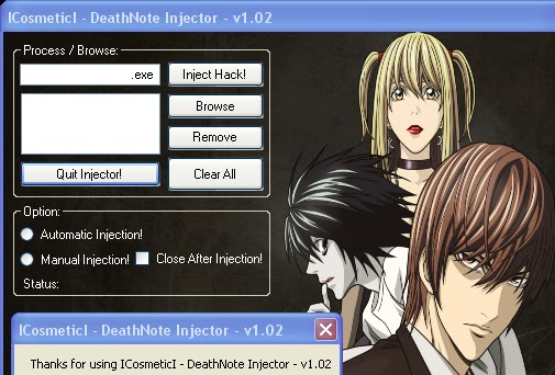 CrossFire Light Yagami Anime Dll injektör indir
