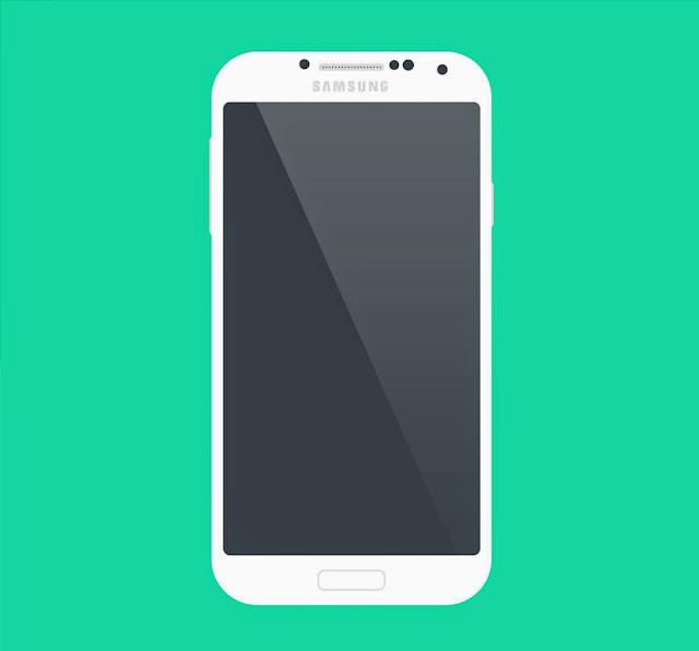 Free PSD Samsung Galaxy S4 Flat Mockup