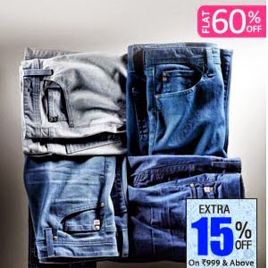 Buy Levi's Jeans 60% off + Extra 15% off, price from Rs. 1104 from Fashionandyou