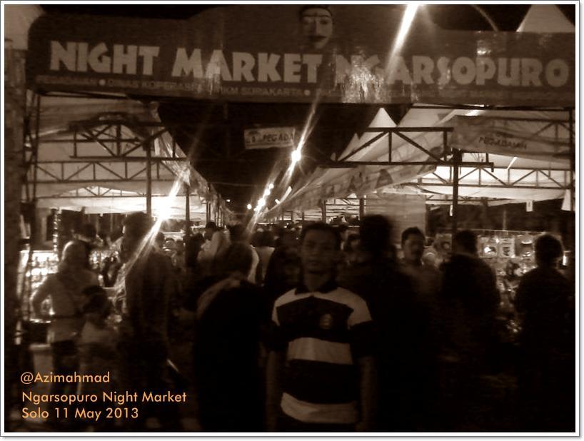 Ngarsopuro Night Market, Pasar Malam Ngarsopuro.