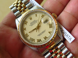 ROLEX OYSTER PERPETUAL DATEJUST - GOLD CREAM ROMAN DIAL - ROLEX 16233 - TWO TONE