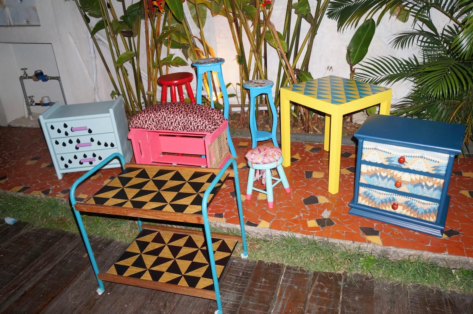 móveis prontos e de cara nova - oficina Mão na Massa - blog Casa de Colorir