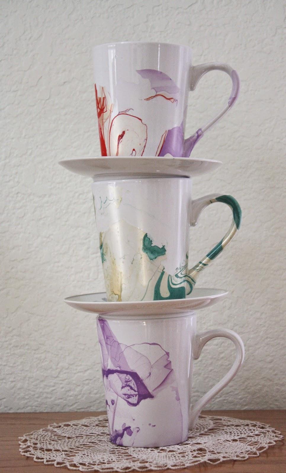 Diy Coffee Mugs With Nail Polish Mug With Nail Polish on it