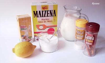 ingredientes natillas sin huevo