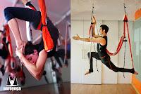 Algunos de los múltiples beneficios de la Aeroyoga son el desarrollo de la fuerza física, la corrección de la postura, la tonificación y el rejuvenecimiento del cuerpo y la mente, logrando que la persona se sienta completamente sana, realizada y satisfecha.