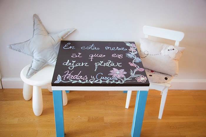 6 ideas para personalizar la mesa lack de ikea decoraci n - Mesa dibujo ikea ...