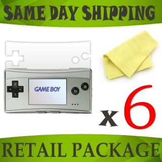 6 x Clear screen protectors for Nintendo Game Boy Micro - console accessory