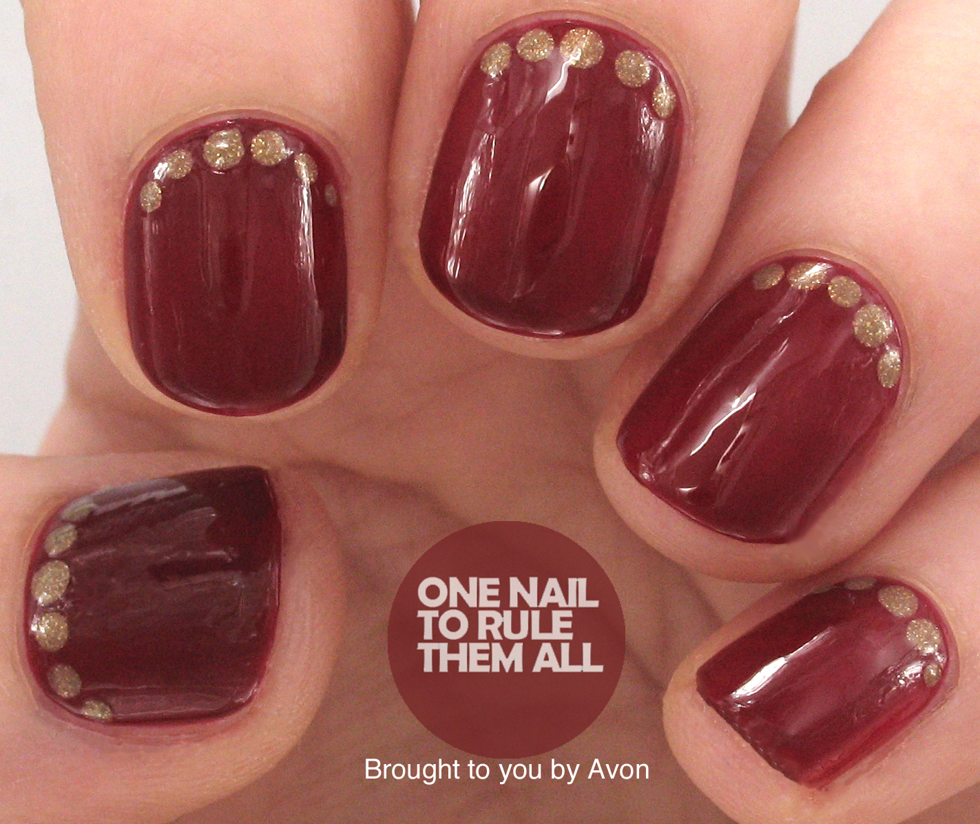 One Nail To Rule Them All Simple Red Carpet Nail Art