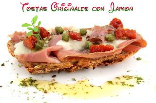 tostas originales, jamón al horno, jamón ibérico, recetas al horno, carne, tostas