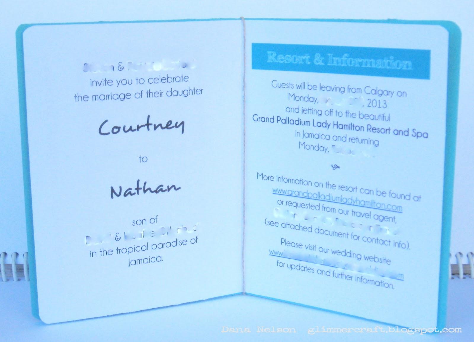 Aspiring to Creativity: Passport Wedding Invitations