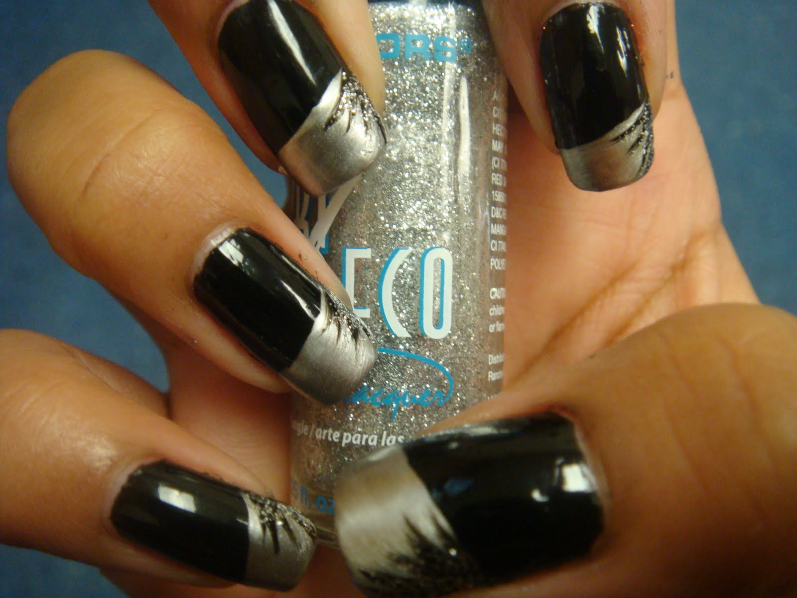 The Lacquer Room: Monday\'s Nail Art: Brushed Silver