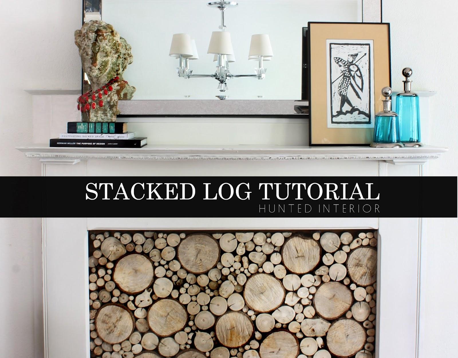hunted interior stacked log tutorial