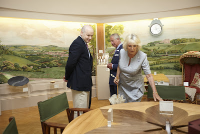 Aidan McEvoy's table. TRH the Prince of Wales and the Duchess of Cornwall