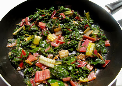 Sauteed Rainbow Chard and Carrots with Red Quinoa