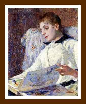 Jeune dame lisant