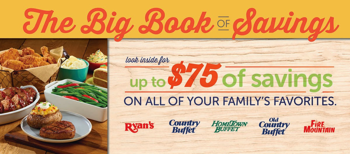Enter the Old Country Buffet Big Book of Savings Giveaway. Ends 10/4.