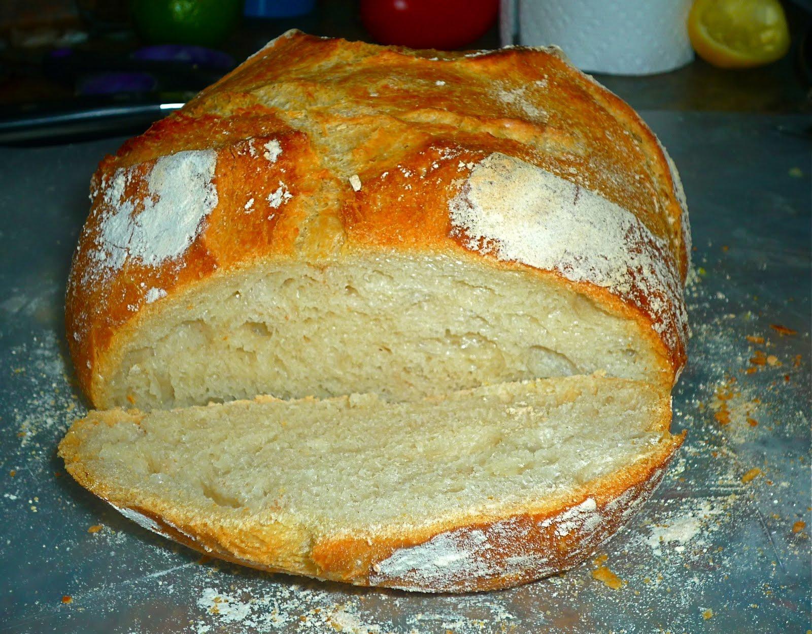 Домашний хлеб в духовке без дрожжей рецепт с пошагово