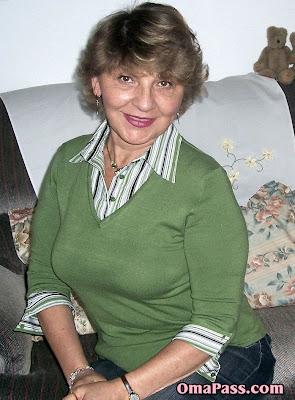 nice granny posing