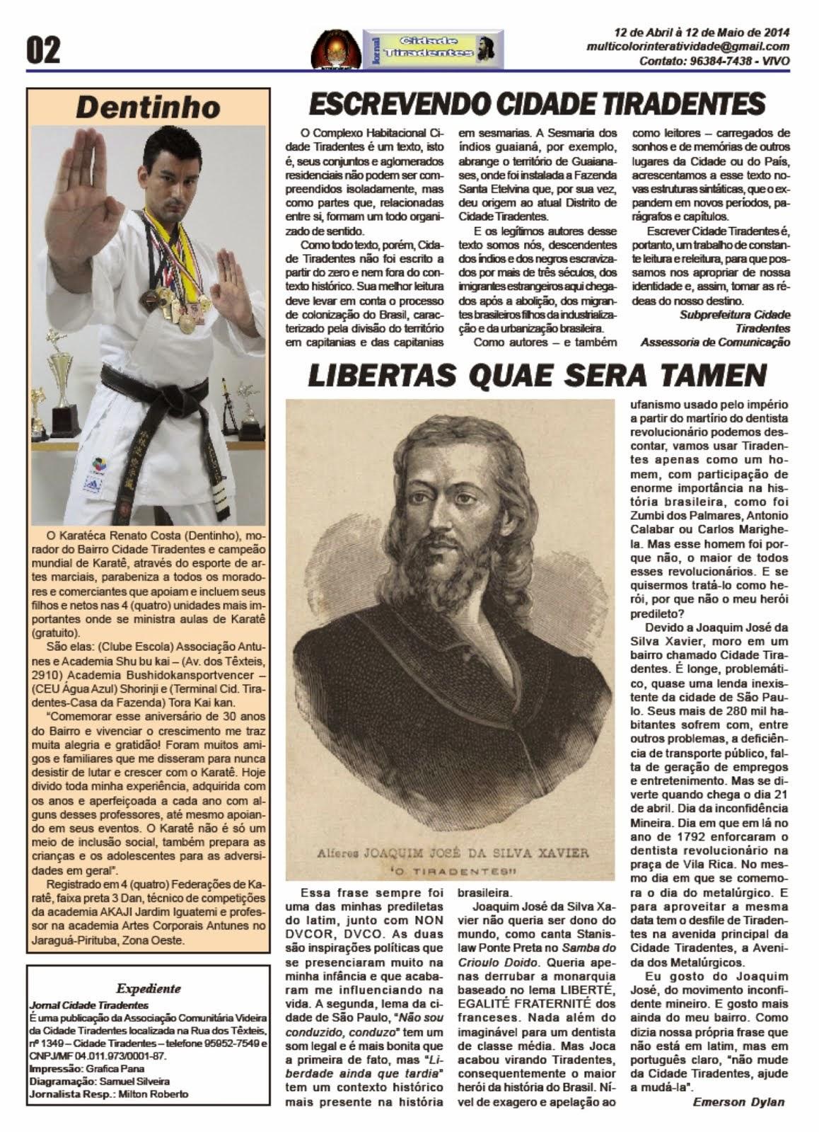 Jornal Cidade Tiradentes 54 - Edição nº 54