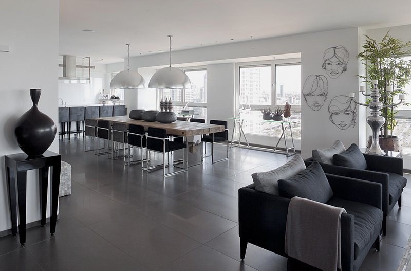 White and Gray Apartment Interior Design ~ Home Design
