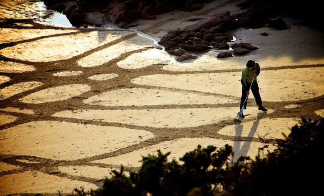 Paintings on the sand