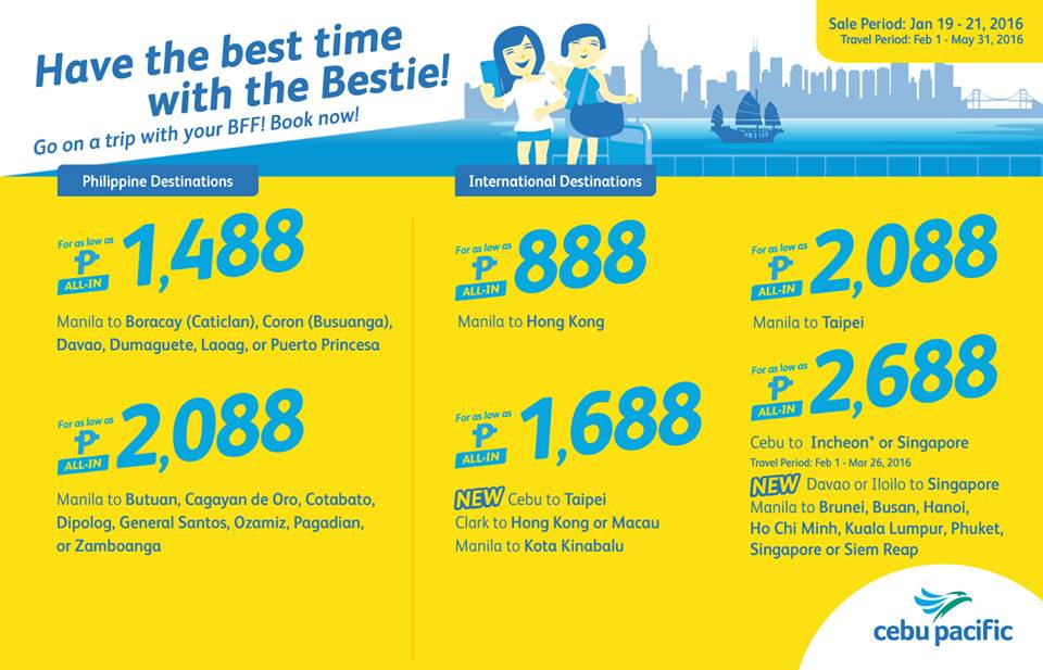 Cebu Pacific Seat Til January 21 2016
