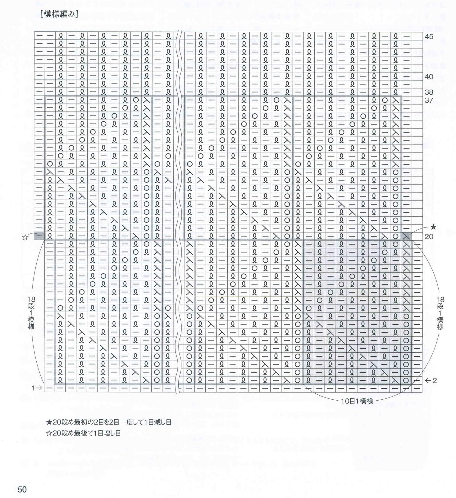 узор с ландыши спицы схема