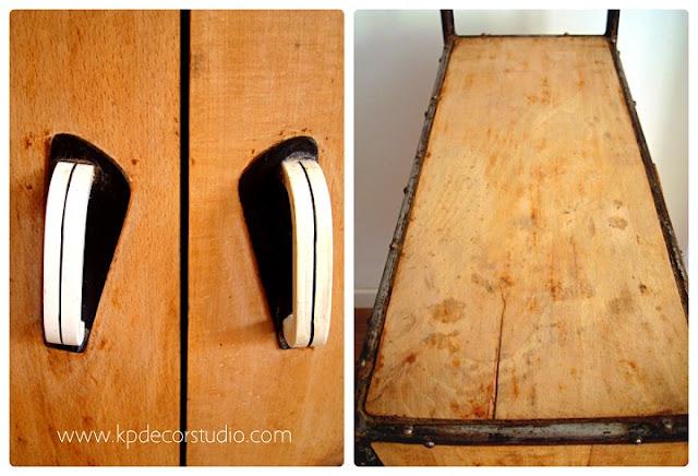 Mobiliario retro, estanterías y repisas vintage