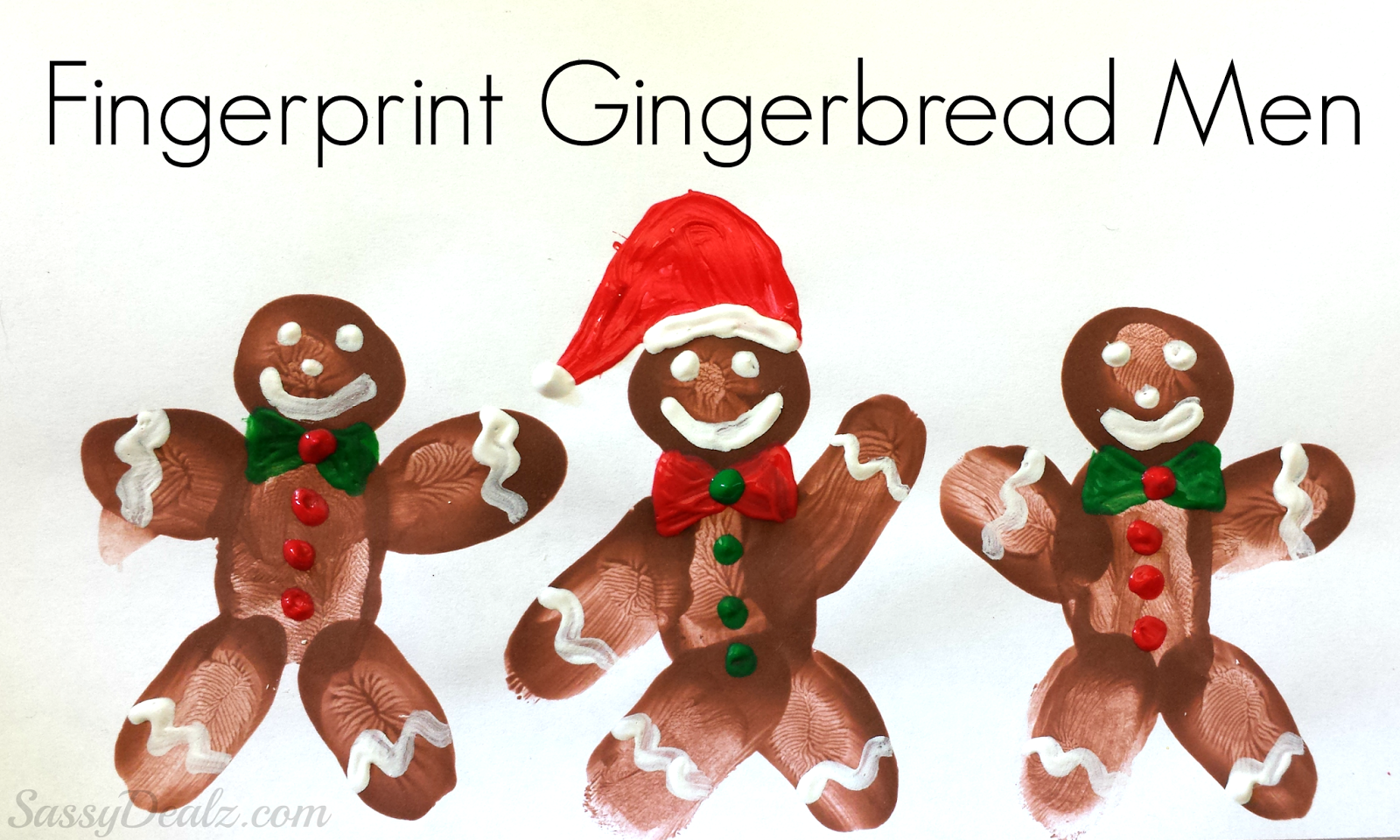 DIY Fingerprint Gingerbread Man Craft For Kids - Crafty Morning