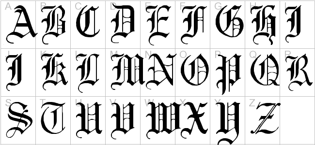 Calligraphy alphabet free old english letters the above explanations about old english letters provide valuable information for those wishing to try the translation of an elizabethan document altavistaventures Images