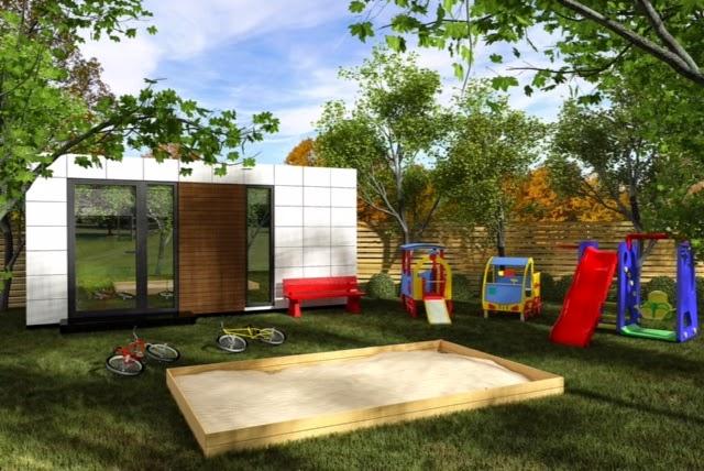 Módulo de jardín Resan - Modelo ludoteca exterior - Ideas para mascotas