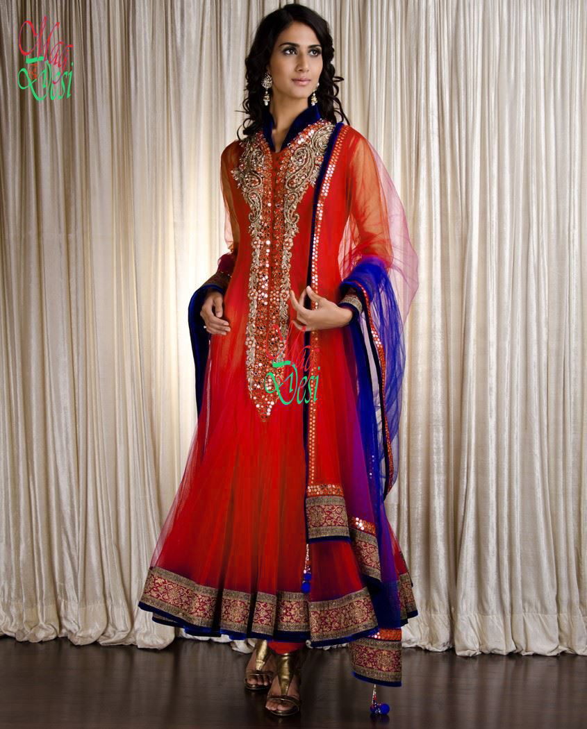 Anarkali & A Line Frocks with Churidar Pajama-1