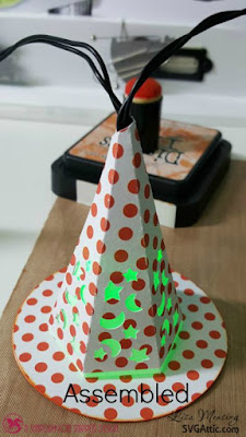 SVG Attic Halloween Soiree Midnight Witch Hat Lights