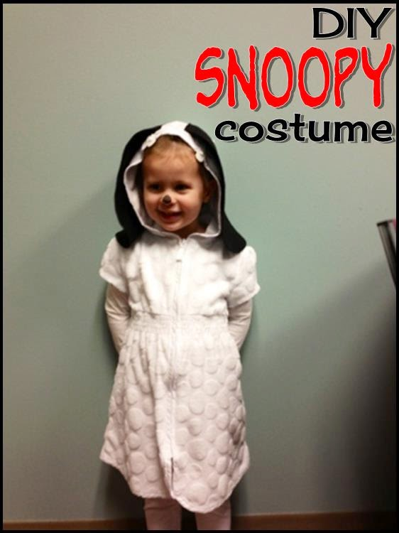 DIY Snoopy costume ~ Life in Random Bits #costume #halloween #diy
