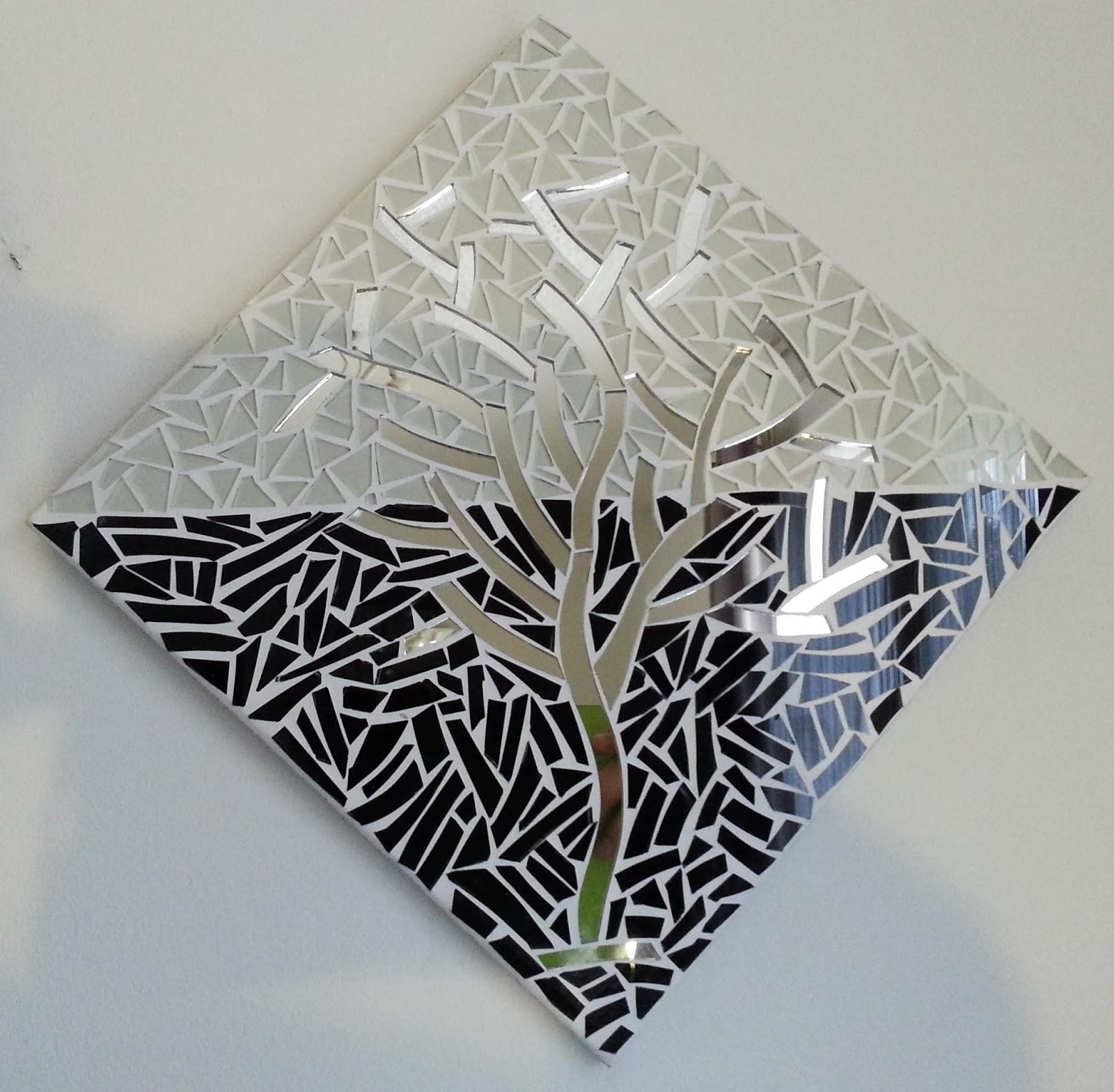 passion mosaique cadre d co arbre en mosaique de verre. Black Bedroom Furniture Sets. Home Design Ideas
