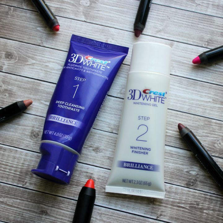 Crest 3D White Brilliance Toothpaste System fall lipstick #GetPolished