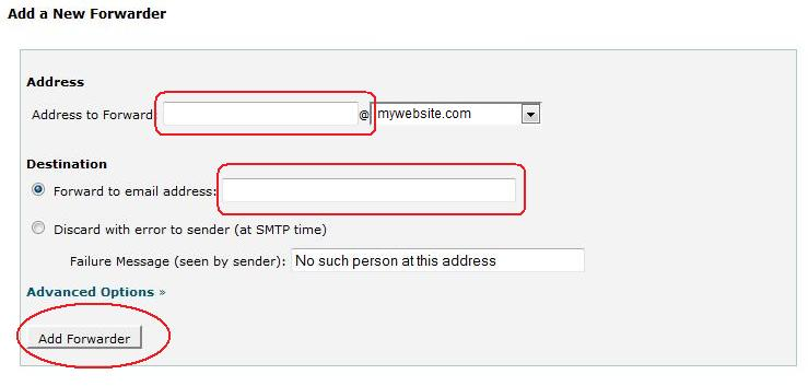 how to forward domain email to another email