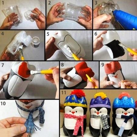 Hasil Kerajinan Tangan, Cara Membuat Pinguin Dari Botol Bekas
