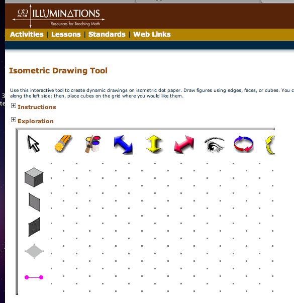 demonstration classroom sharing  isometric drawing tool  illuminations website