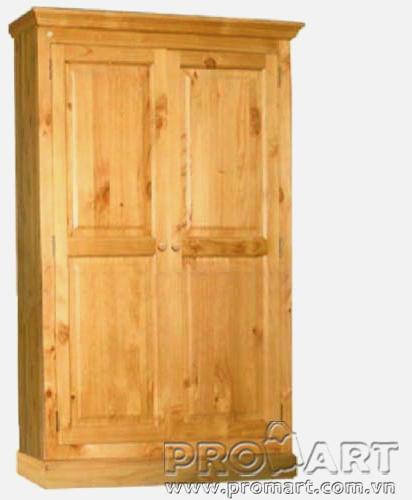Tủ quần áo Cheshire kiểu 2 cánh liền gỗ tự nhiên